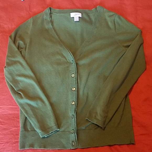 LOFT Sweaters - Ann Taylor LOFT Green Long Sleeve Cardigan M